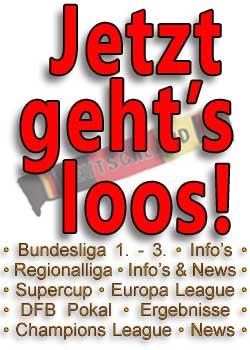 Fussball Bundesliga,  Fanartikel wie Trikots, Schals, Mützen, T-Shirts und mehr!